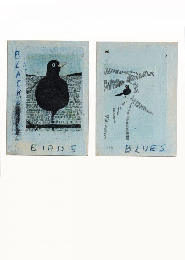 Tweeluikje Black Bird Blues 2